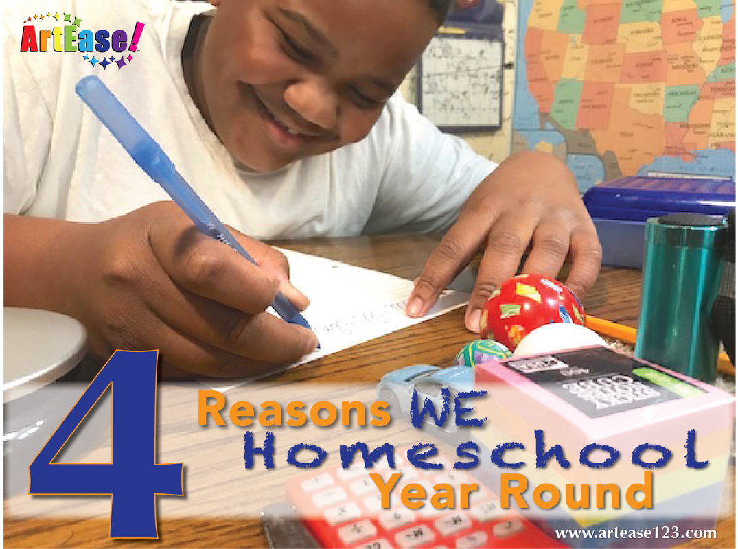 4 Reasons We Homeschool Year Round-Xander Writing