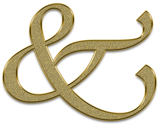 Ampersand Dilly Day -Gold Ampersand
