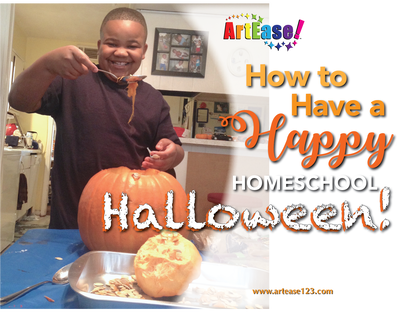 ArtEase! How to Have a Happy Homeschool Halloween