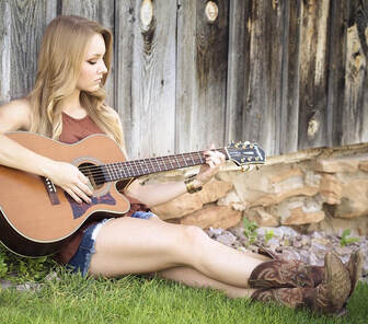 International Country Music Day-girl with guitar